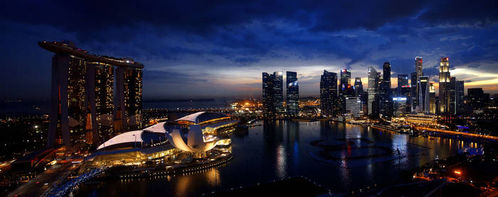 Marina Bay, Singapore at Dusk