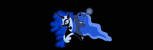 Luna and Nightmare Moon by cayfie