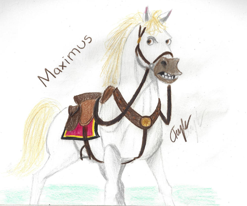Show off your drawing skills!! Maximus_from_tangled_by_cayfie-d6owuer