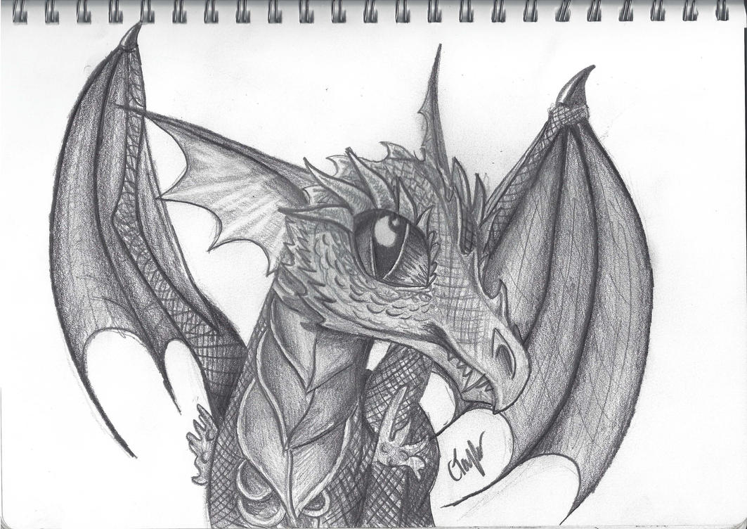 Show off your drawing skills!! Dragon_done_by_cayfie-d6spfq2