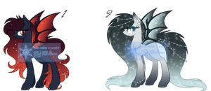 Bat Pony Adoptables - CLOSED by cayfie