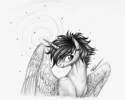 ~Snowy Stallion~ by cayfie