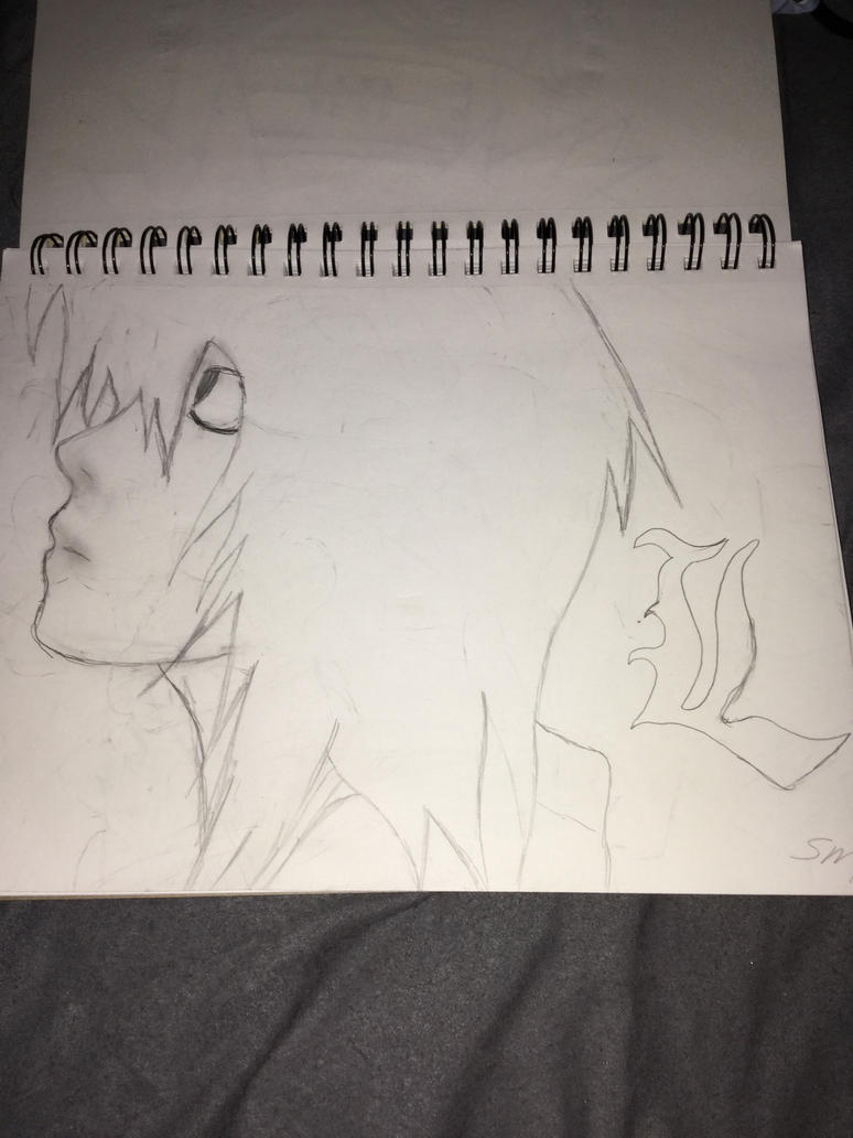 L lawliet from Deathnote by Roseuchiha123