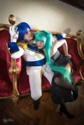 Cendrillon Cosplay - Hatsune Miku and Kaito by BloodyMeg