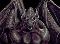 Pixel Art: Training with a Gargoyle by Darudado