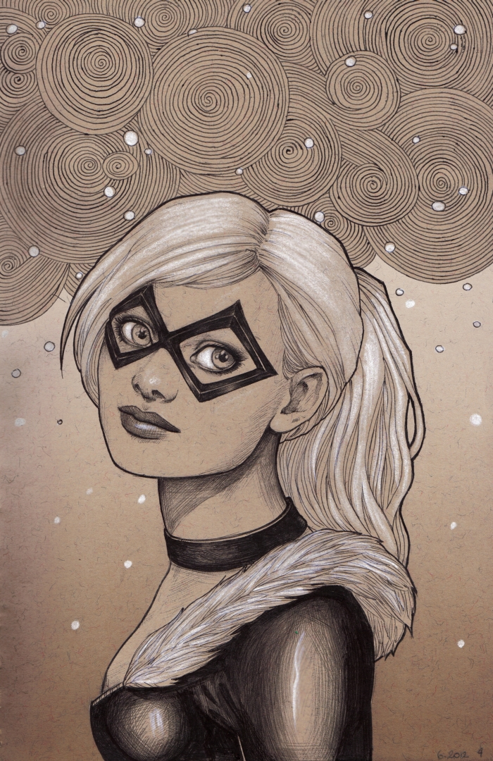 0620124 Black Cat by Lorrain