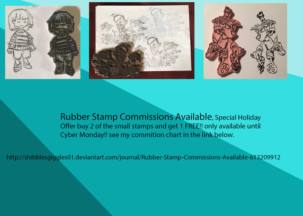Rubber Stamps Commission Chart