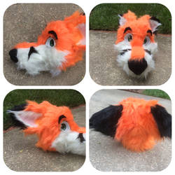 Fox Fursuit Head (For Sale) by shibblesgiggles01