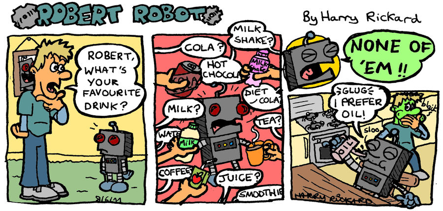 Robert Robot Strip 4 by WizzKid97