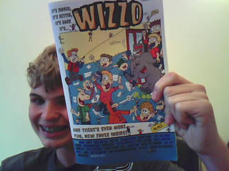 It's me with THE WIZZO COMIC by WizzKid97
