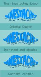 The Progression of the Minestaches Logo