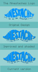 The Progression of the Minestaches Logo by WizzKid97