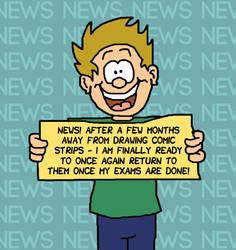 NEWS: Returning to Comics!