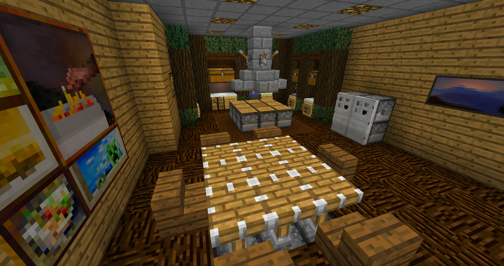 Minecraft: Wooden Kitchen by WizzKid97