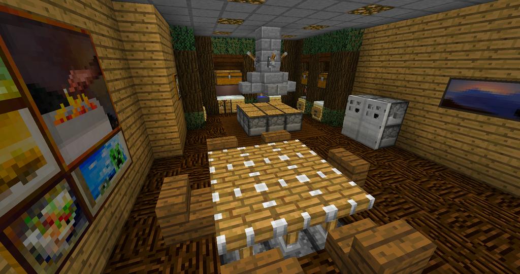 Minecraft: Wooden Kitchen By WizzKid97 ...