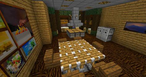 Minecraft: Wooden Kitchen
