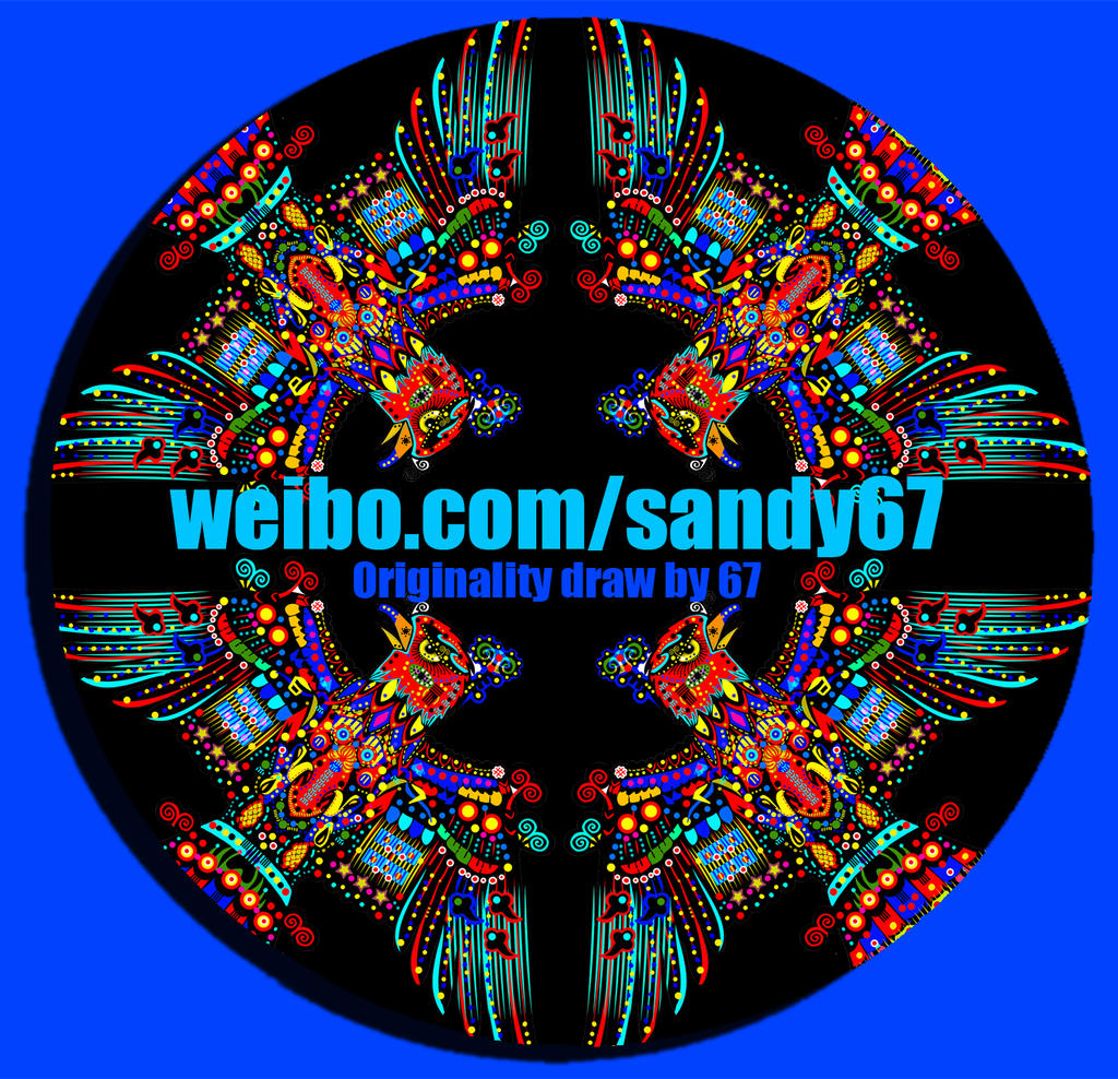 original design-dish-Painting-Eagle-sandy67 by sandy67-Q