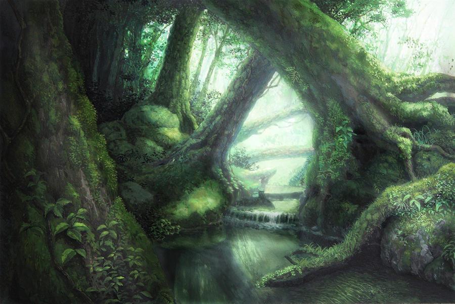 Les ležiaci neďaleko Kumo Forest_by_oyoshina-d5dqlha
