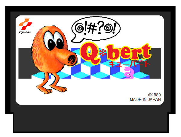 Q*bert for Famicom by AngryBirdFan