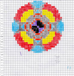 ELO Spaceship (Pixel art on graph paper)