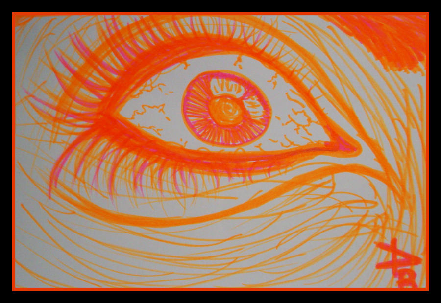 Orange Eye by petruva1991