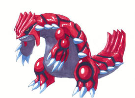 Legendary Pokemon: Groudon by Pixelated-Takkun