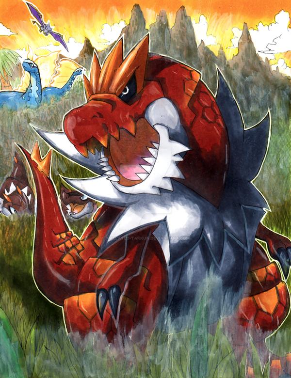 Jurassic Pokemon by Pixelated-Takkun