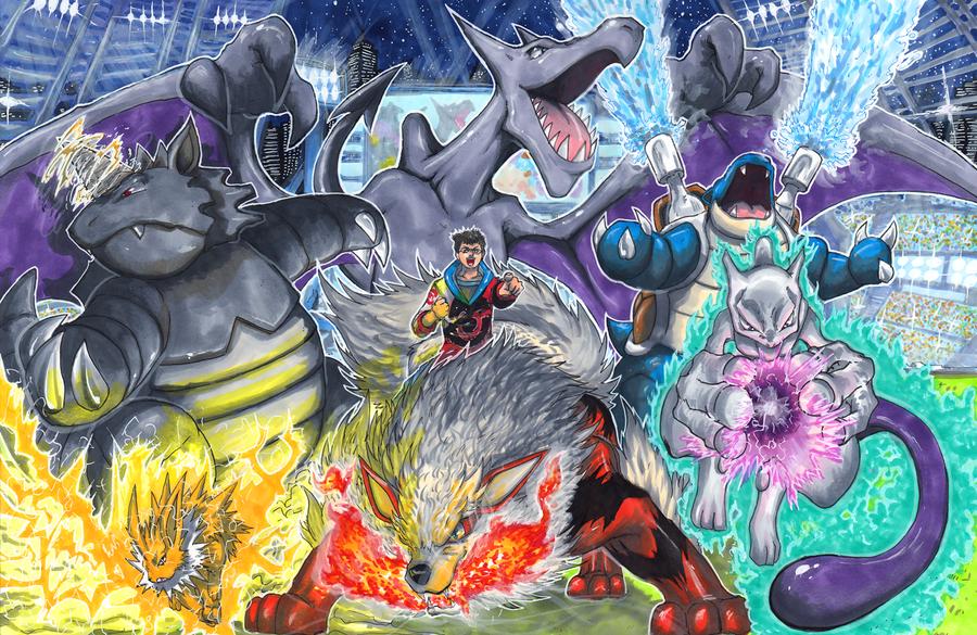 Commission: Pokemon Stadium by matsuyama-takeshi