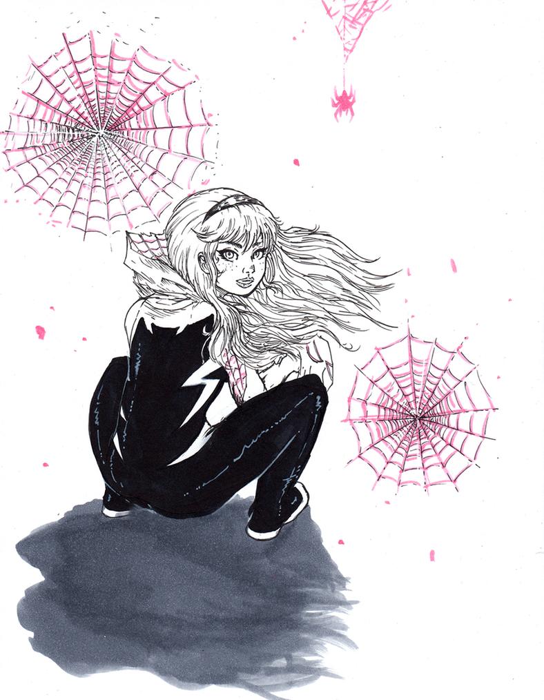 Spider Gwen Ink 1 by matsuyama-takeshi