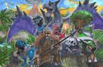 Commission: Prehistoric Pokemon Team