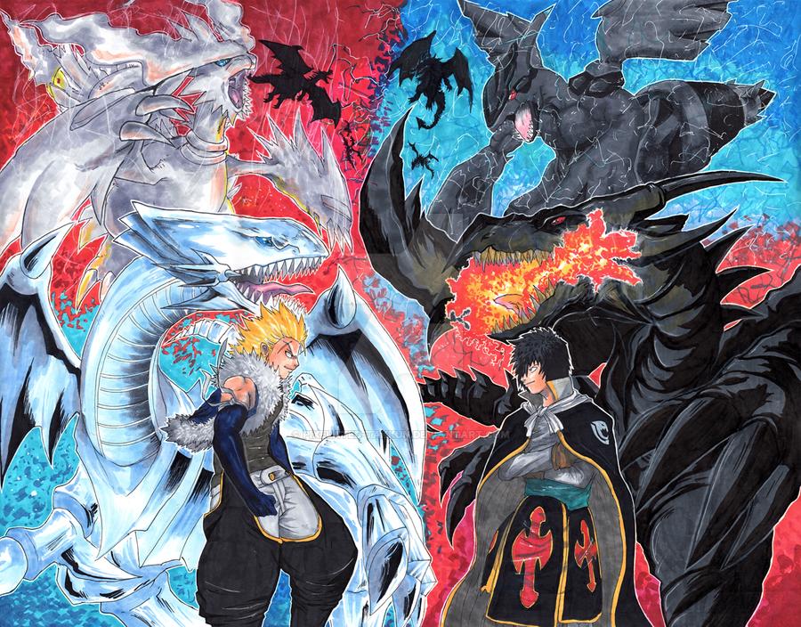 Commission: Twin Dragons! by matsuyama-takeshi