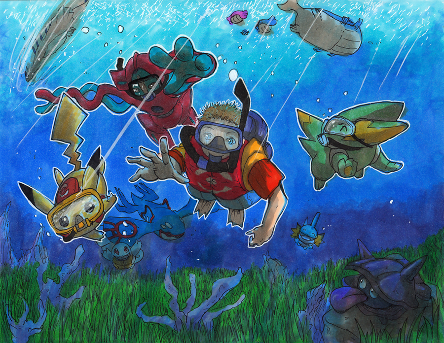 Commission: Under the Hoenn Sea by matsuyama-takeshi