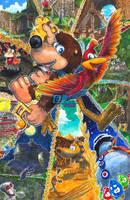 Banjo-Kazooie: Bear and Bird by Pixelated-Takkun