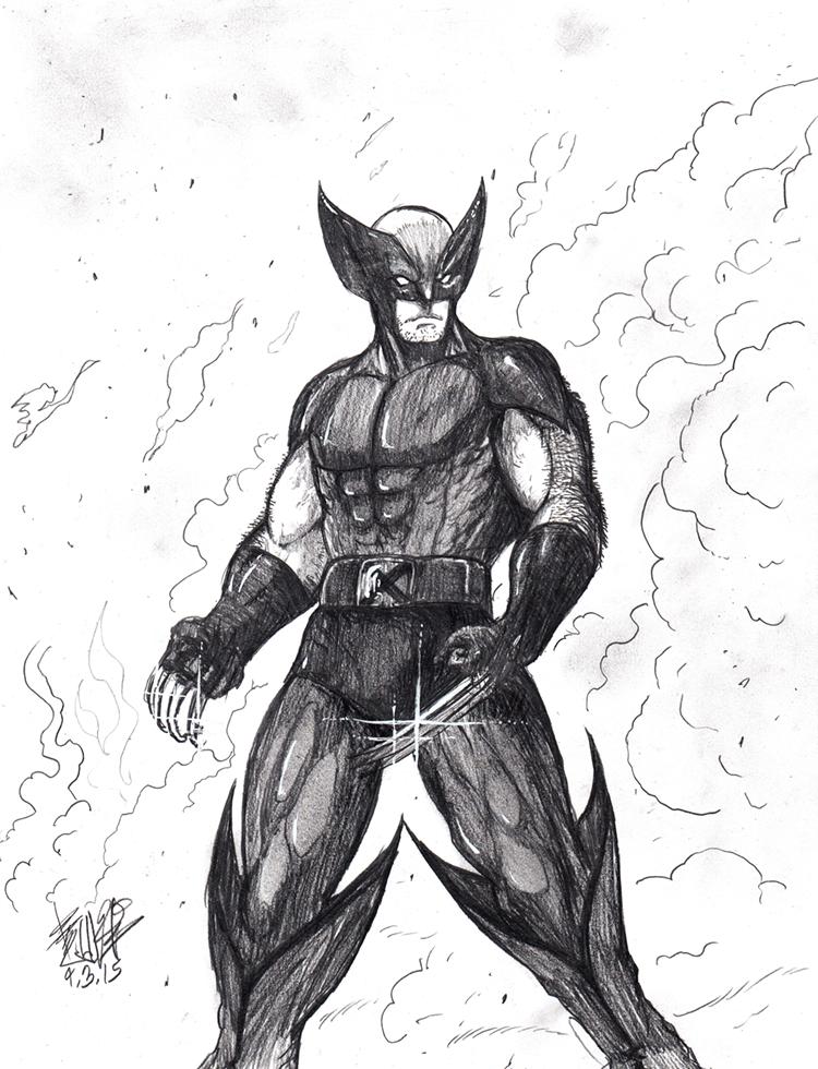 Wolverine-Sketch by matsuyama-takeshi