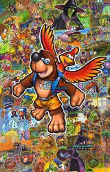 Banjo Kazooie 20th Anniversary by Pixelated-Takkun