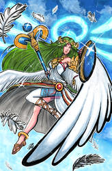 Smash Series: Palutena by Pixelated-Takkun
