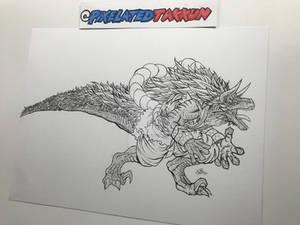 #Oc_tober Day 2: Deinonychus (Saurian form)