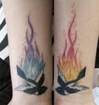Magpie Wrist Tattoo