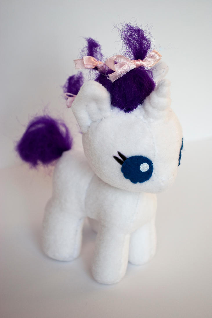 Baby Rarity Plush Prototype by ivy-cinder