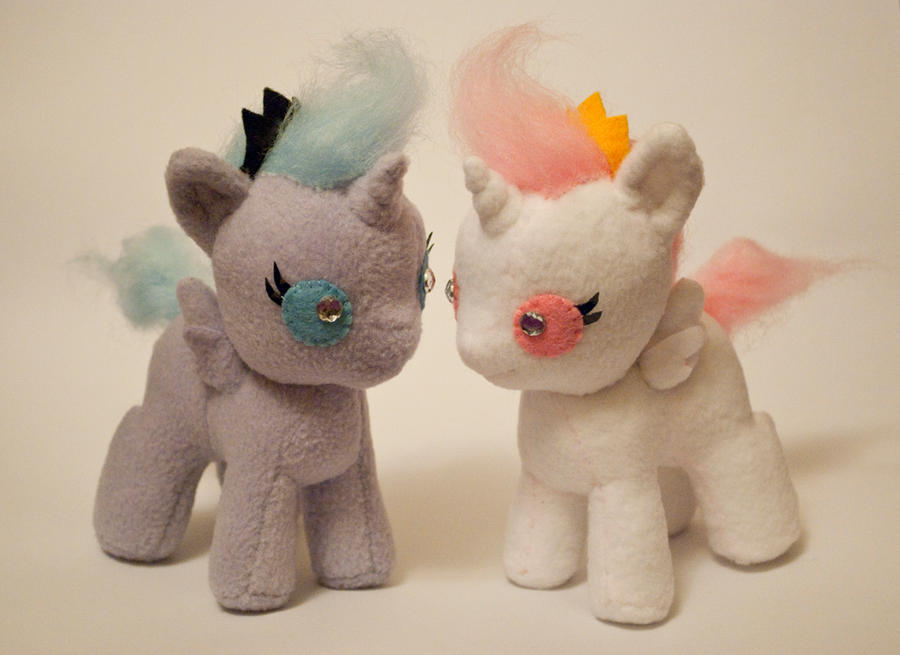 My Little Pony Baby Princess Plushies by ivy-cinder