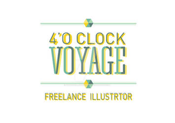 New logo: 4'o Clock Voyage. Freelance Illustrator