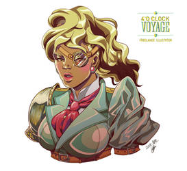 Character design in digital painting: Valerie