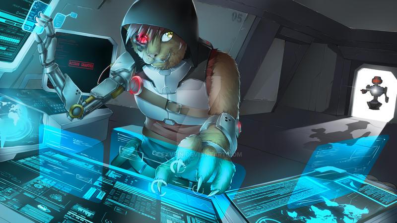 Puma Cyborg Wallpaper [Commission] by EXVein