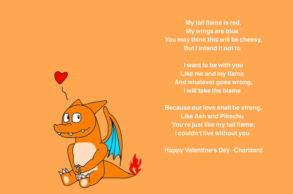 a valentines day love poem by charizard by charizart6903