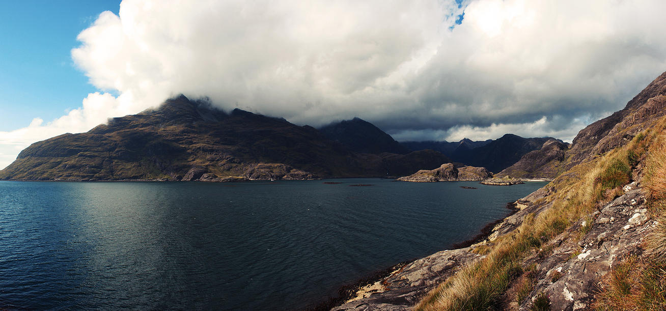 Approaching the Cuillins by Smiling-Demon