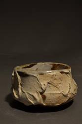 Wood fire tea bowl