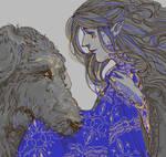 Huan brings Luthien's cloak