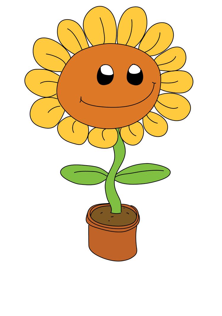 Happy sunflower by Edge-blade on DeviantArt