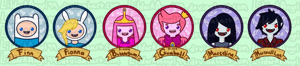 Adventure Time Friends by lildarkangel99