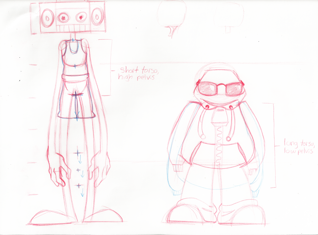 Character Design Lineup : Animation character design lineup by hoodiepatrol on